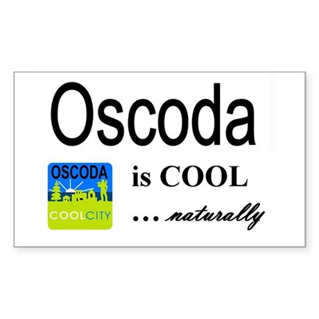 OscodaCoolCity Rectangle Sticker