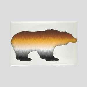 FURRY BEAR PRIDE BEAR CUTOUT Rectangle Magnet