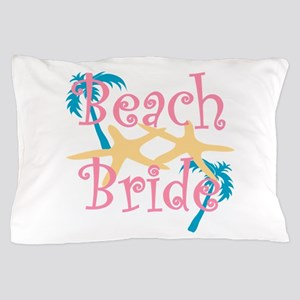 Beachbride2pink Pillow Case
