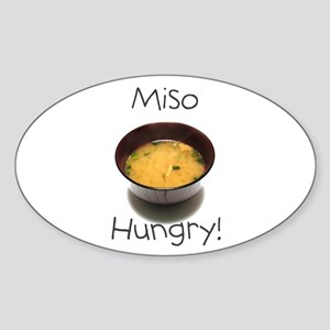 Miso Hungry Oval Sticker