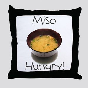 Miso Hungry Throw Pillow