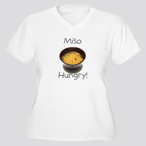 Miso Hungry Women's Plus Size V-Neck T-Shirt
