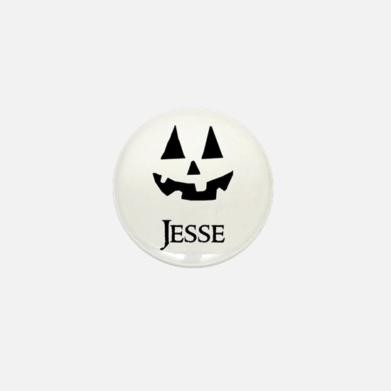 Jesse Halloween Pumpkin face Mini Button