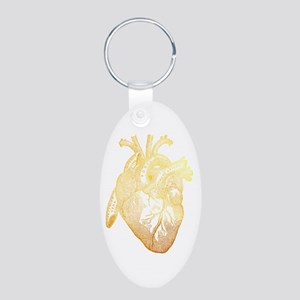 Anatomical Heart - Gold Keychains