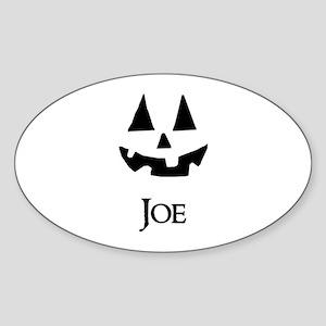 Joe Halloween Pumpkin face Sticker