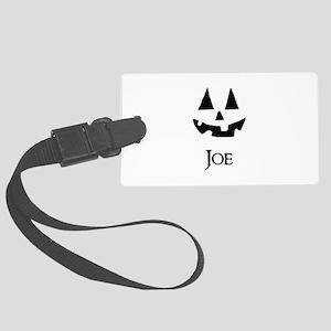 Joe Halloween Pumpkin face Luggage Tag
