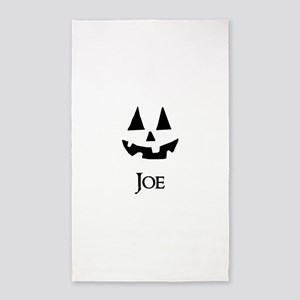 Joe Halloween Pumpkin face 3'x5' Area Rug