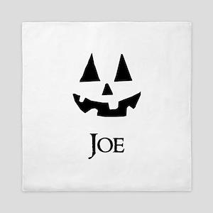 Joe Halloween Pumpkin face Queen Duvet