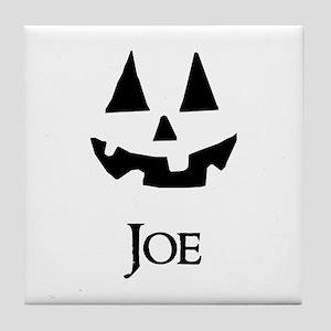 Joe Halloween Pumpkin face Tile Coaster