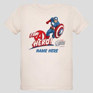 Avengers Assemble Captain Ame Organic Kids T-Shirt