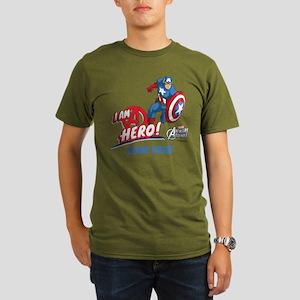 Avengers Assemble Cap Organic Men's T-Shirt (dark)