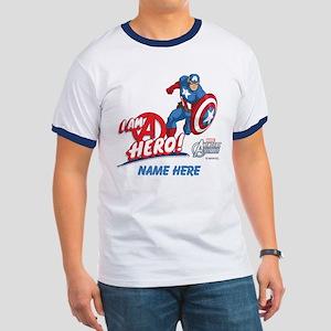Avengers Assemble Captain America Persona Ringer T