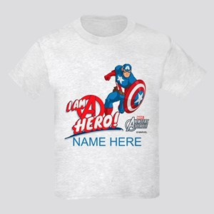 Avengers Assemble Captain Ameri Kids Light T-Shirt