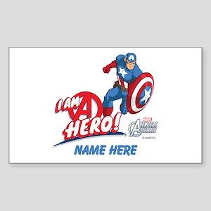 Avengers Assemble Captain Amer Sticker (Rectangle)