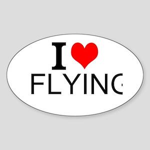 I Love Flying Sticker