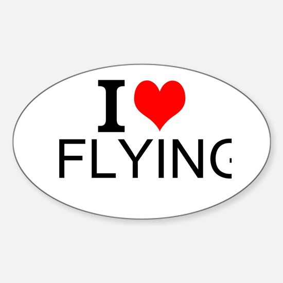 I Love Flying Decal