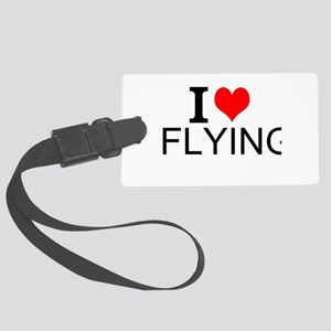 I Love Flying Luggage Tag