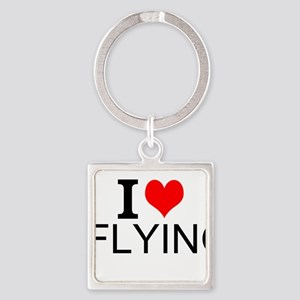 I Love Flying Keychains