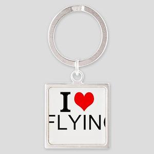 I Love Flying Keychains
