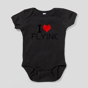 I Love Flying Baby Bodysuit