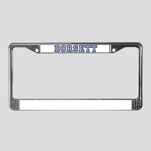 DORSETT University License Plate Frame