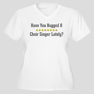 Hugged Choir Singer Women's Plus Size V-Neck T-Shi