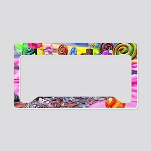 Pink Candyland License Plate Holder