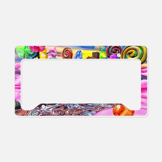 Pink Candyland License Plate Holder