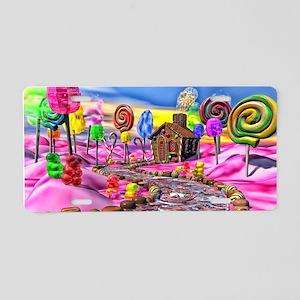 Pink Candyland Aluminum License Plate