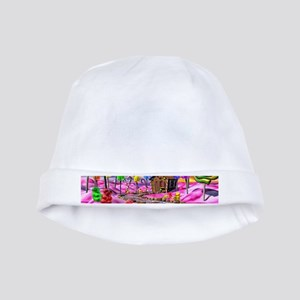 Pink Candyland baby hat