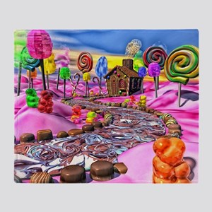 Pink Candyland Throw Blanket