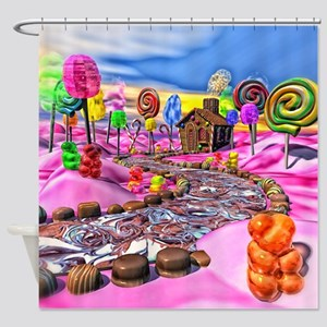 Pink Candyland Shower Curtain