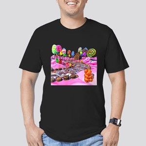 Pink Candyland Men's Fitted T-Shirt (dark)