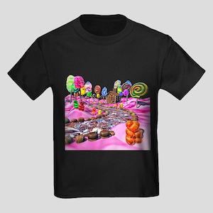 Pink Candyland Kids Dark T-Shirt