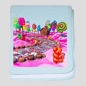 Pink Candyland baby blanket