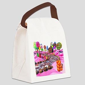 Pink Candyland Canvas Lunch Bag