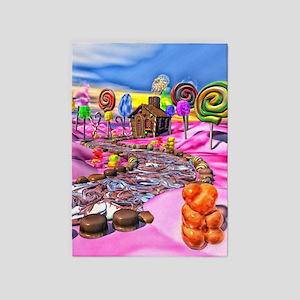 Pink Candyland 5'x7'Area Rug