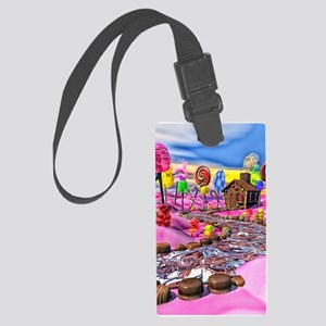 Pink Candyland Large Luggage Tag