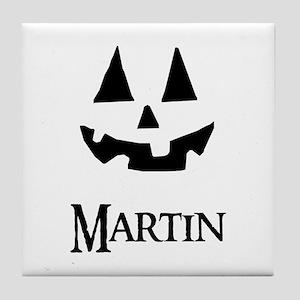 Martin Halloween Pumpkin face Tile Coaster