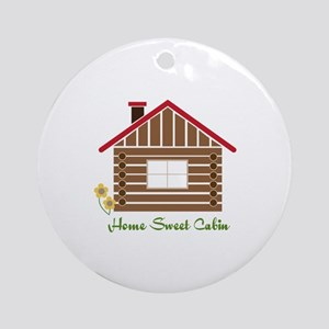 Home Sweet Cabin Ornament (Round)