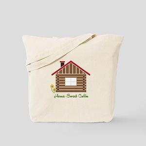 Home Sweet Cabin Tote Bag