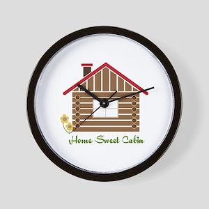 Home Sweet Cabin Wall Clock