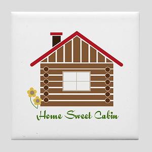 Home Sweet Cabin Tile Coaster