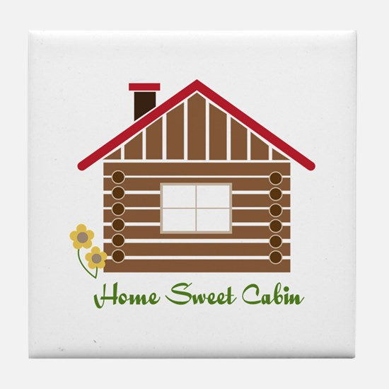 Home Sweet Cabin Tile Coaster
