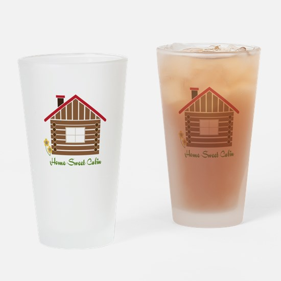 Home Sweet Cabin Drinking Glass