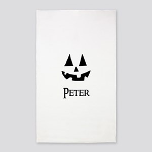 Peter Halloween Pumpkin face 3'x5' Area Rug