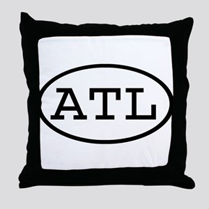 ATL Oval Throw Pillow