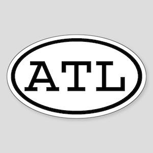 ATL Oval Oval Sticker