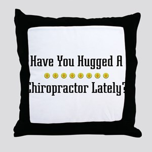 Hugged Chiropractor Throw Pillow