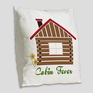 Cabin Fever Burlap Throw Pillow